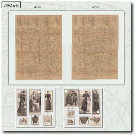 Sewing patterns La Mode Illustrée 1892 N°49