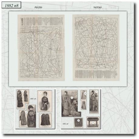 Sewing patterns La Mode Illustrée 1882 N°08