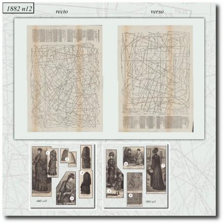 Sewing patterns La Mode Illustrée 1882 N°12
