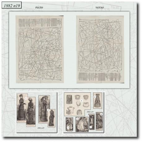 Sewing patterns La Mode Illustrée 1882 N°19
