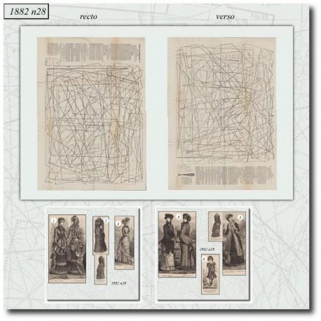 Patrons de La Mode Illustrée 1882 N°28