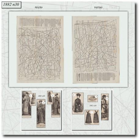 Sewing patterns La Mode Illustrée 1882 N°30