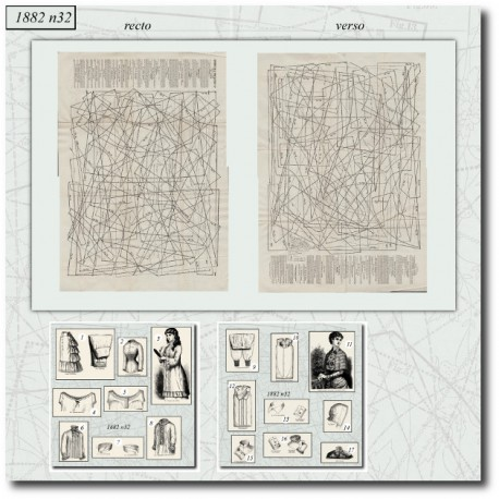 Sewing patterns La Mode Illustrée 1882 N°32