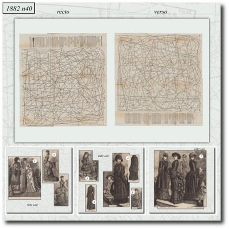 выкройку La Mode Illustrée 1882 N°40