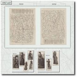 Sewing patterns La Mode Illustrée 1882 N°43