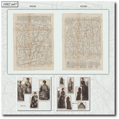 выкройку La Mode Illustrée 1882 N°47