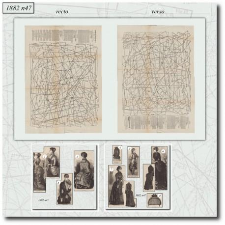 Sewing patterns La Mode Illustrée 1882 N°47