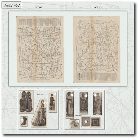 Sewing patterns La Mode Illustrée 1882 N°52