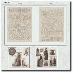 Sewing patterns La Mode Illustrée 1884 N°7