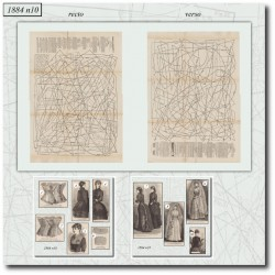 Patrons de La Mode Illustrée 1884 N°10