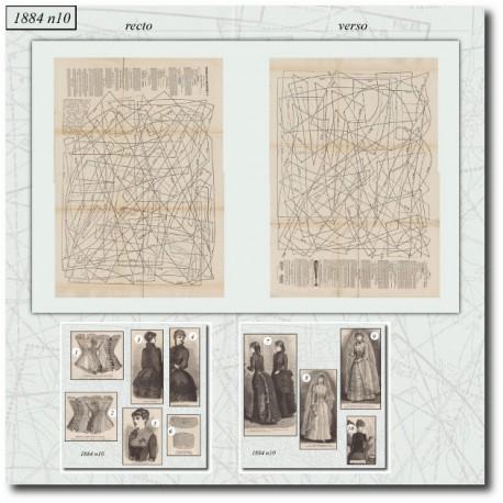 Sewing patterns La Mode Illustrée 1884 N°10