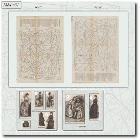 Patrons de La Mode Illustrée 1884 N°31