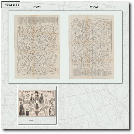 Sewing patterns La Mode Illustrée 1884 N°33
