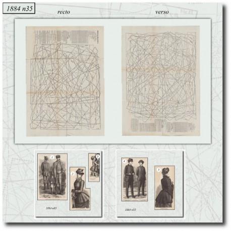 Sewing patterns La Mode Illustrée 1884 N°35