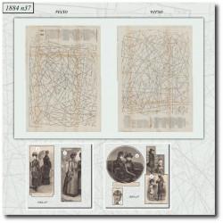Sewing patterns La Mode Illustrée 1884 N°37