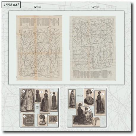Patrons de La Mode Illustrée 1884 N°44