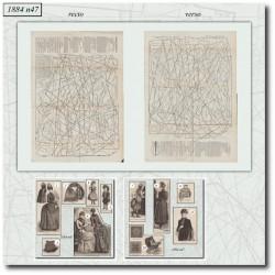 Sewing patterns La Mode Illustrée 1884 N°47