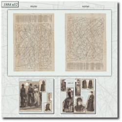 Sewing patterns La Mode Illustrée 1884 N°52