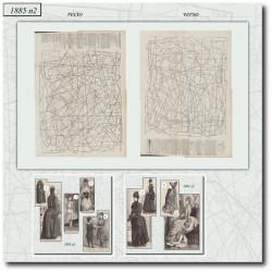 Patrons de La Mode Illustrée 1885 N°02