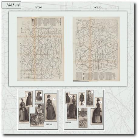 Sewing patterns Mode Illustrée 1885 04