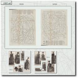 Sewing patterns Mode Illustrée 1885 06