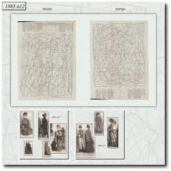 Patrons de La Mode Illustrée 1885 N°12