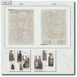 Sewing patterns Mode Illustrée 1885 12