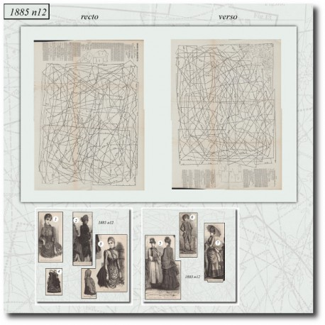 Sewing patterns Mode Illustrée 1885 12