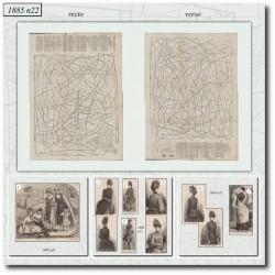 Patrons de La Mode Illustrée 1885 N°22