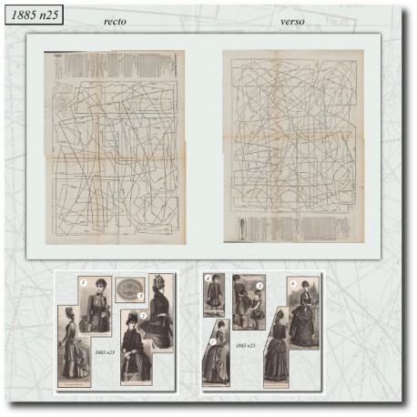 Sewing patterns Mode Illustrée 1885 25