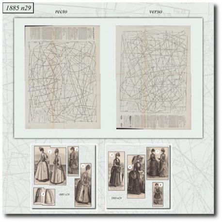 Sewing patterns Mode Illustrée 1885 29