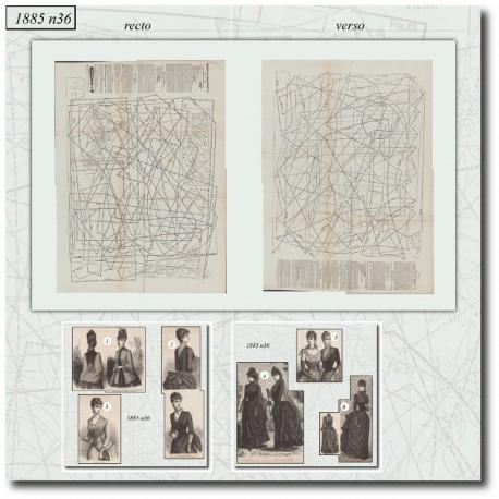 Sewing patterns Mode Illustrée 1885 36