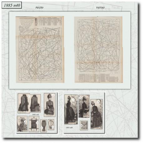 Sewing patterns Mode Illustrée 1885 40