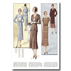 Fashion plates La Coquette 1935 12