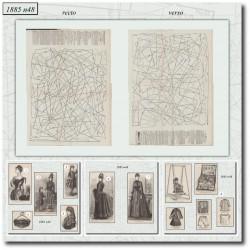 Sewing patterns Mode Illustrée 1885 48