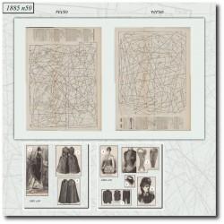 Sewing patterns Mode Illustrée 1885 50