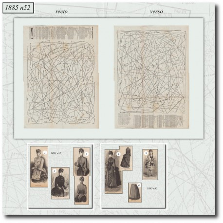 Sewing patterns Mode Illustrée 1885 52