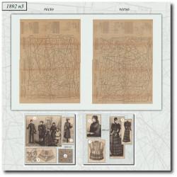 Patrons de La Mode Illustrée 1892 N°03