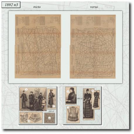 Sewing patterns La Mode Illustrée 1892 N°03