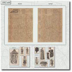 Sewing patterns La Mode Illustrée 1892 N°46