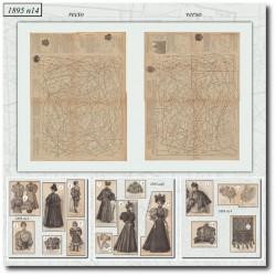 Patrons de La Mode Illustrée 1895 N°14
