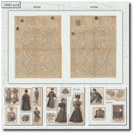 Victorian sewing patterns La Mode Illustrée 1895 N°14