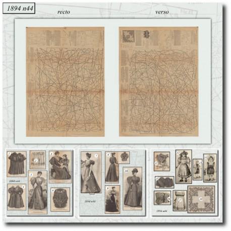 Sewing patterns La Mode Illustrée 1894 N°44
