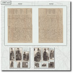 Patrons de La Mode Illustrée 1887 N°11