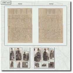 Sewing patterns La Mode Illustrée 1887 N°11