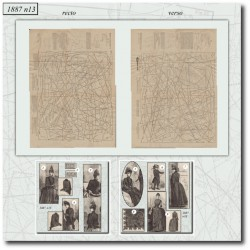 Patrons de La Mode Illustrée 1887 N°13