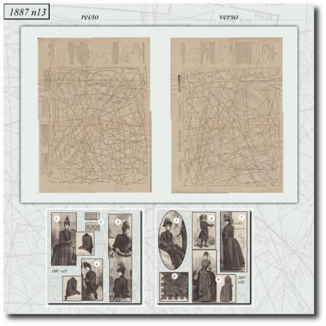 Digital sewing patterns La Mode Illustrée 1887 N°13