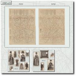 Sewing patterns La Mode Illustrée 1888 N°24