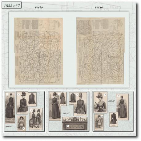 Patrons de La Mode Illustrée 1888 N°37
