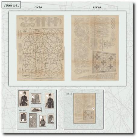 Sewing patterns La Mode Illustrée 1888 N°43